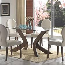 amazon dining table and chairs. glass top dining table, f/wln,70.7x35x30 amazon dining table and chairs o