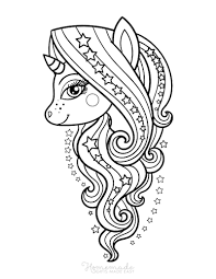 More mythological beings coloring pages. 75 Magical Unicorn Coloring Pages For Kids Adults Free Printables