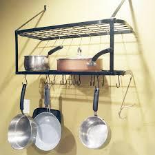 kitchen hanging pot pan rack iron