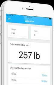 Projected Max Chart One Rep Max Calculator App