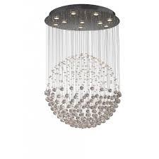 exc2350 excelsior 10 light crystal ceiling pendant polished chrome