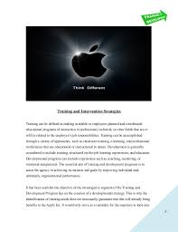 training and development of apple co 62