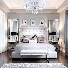 beautiful bedroom decor tufted grey headboard mirrored furniture ideas
