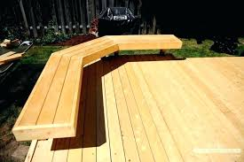 decking bench ideas comfortable seating deck bench plans large size of in deck benches with backs decking bench