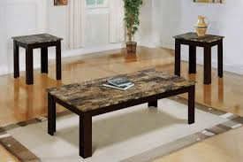 Marble Living Room Table Set Marble Top Coffee Table Sets Tapered Feet Finish Each Piece And