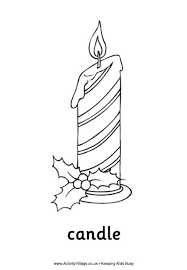 Small Picture Christmas Candle Colouring Page