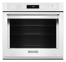 kitchenaid this 27 single wall oven with even heat true convection provides consistent heating and even cooking a unique bow tie shaped design and