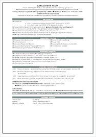 Resume Format For Job Sample Resume Format Best Examples For