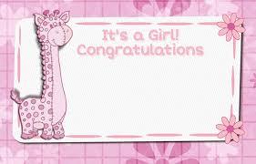 Welcome New Baby Girl Cute Giraffe Free New Baby Ecards