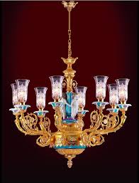 plush glass chandelier shades touched by beautiful pattern and gold holders enchanted to it for your dining room lighting concept