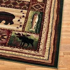 log cabin area rugs camouflage rustic nature themed lodge western clearance whitetail deer moose rug furniture of america bunk bed
