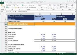 Financial Model Excel Spreadsheet Forecasting Balance Sheet Items Financial Modeling Guide