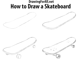 Easy To Draw Skateboard Designs How To Draw A Skateboard Skateboard Art Skateboard Easy