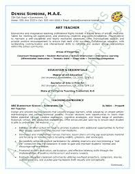 Example Resume For Teachers Enchanting Teacher Resume Samples Mesmerizing Art Teacher Resume Sample Resume