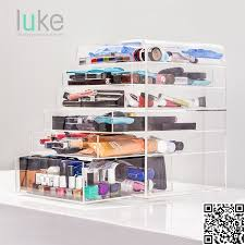 several drawers acrylic makeup organizer