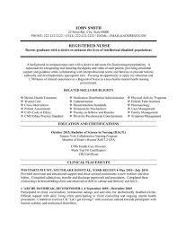 Nurse Resume Template Free Best Resume Gallery