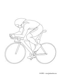 Coloriages Coloriage De Cyclisme Sur Piste Fr Hellokids Com