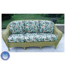 wicker replacement cushions. Brilliant Replacement Sea Grass Green Charleston Sofa Intended Wicker Replacement Cushions