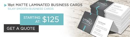 Appletree Printing 18pt Business Cards With Matte Lamination In