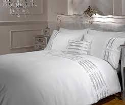 Belle Amie Crystal Duvet Cover Quilt Bedding Set, Polyester/Cotton ...