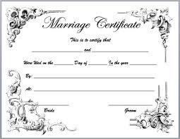 Marriage Certificate Maker Oklmindsproutco Fake Marriage Certificate