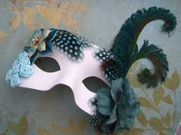Mask Decorating Ideas Masquerade ball peacock feather turquoise teal flower rhinestone 11