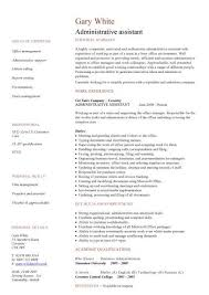 Resume Template Executive Assistant Administrative Assistant Cv Sample Planning And Organizing