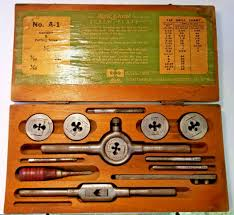 Tap And Die Set Chart Vintage Greenfield Little Giant No A 1 Screw Plate Tap And Die Set Used