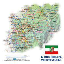 Es liegt in westen der republik und grenzt an die bundesländer. Karte Von Nordrhein Westfalen Bundesland Provinz In Deutschland Welt Atlas De
