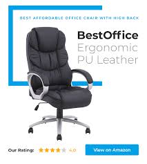 coolest office chair. BestOffice Ergonomic PU Leather Chair Is Our Choice In Category Best Affordable Office With High Coolest