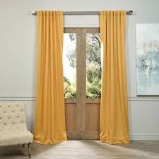 exclusive fabrics furnishings semi opaque marigold blackout curtain 50 in w x