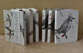 lovely to the touch each book has unique handmade paper on the case bound hard cover