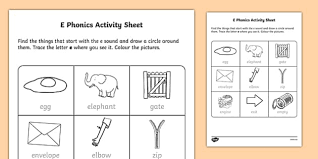 I aim to provide lots of free resources for parents and teachers who are following the letters and sounds programme. E Phonics Activity Worksheet Teacher Made