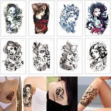 красота женщина татуировки тела русалка древний прохладный девушка гейша дизайн