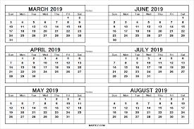 printable 6 month calendar 2019 6 month calendar template barca fontanacountryinn com