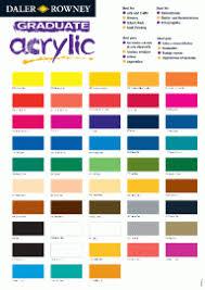 Colour Mixing Chart For Acrylic Paint Pdf Graduate Acrylic Daler Rowney