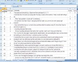 excel spreadsheet download excel spreadsheet of focus group interview showing how