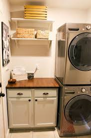 Simple Laundry Room Makeovers 25 Best Stacked Washer Dryer Ideas On Pinterest Stackable
