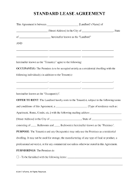 standard rental agreement template free standard residential lease agreement template pdf word