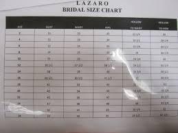 Lazaro Size Charts