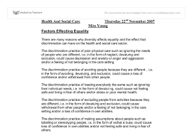 factors affecting equality diversity gcse health and social care  document image preview