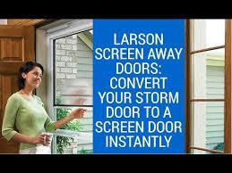 screen away doors converts storm door