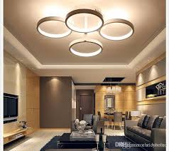 led designer lighting. 2018 Circle Rings Designer Modern Led Ceiling Lights Lamp For Living Room Bedroom Remote Control Fixtures From Chricyhome, $80.41 | Dhgate.Com Lighting L