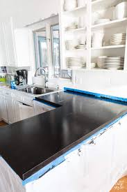 Kitchen Counter Marble Painting Kitchen Countertops To Look Like Carrara Marble In My