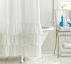 white shower curtain target. Ruffle Shower Curtain | Pottery Barn White Target