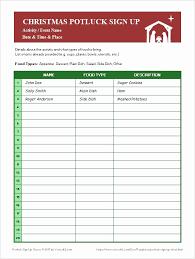Sign Up Sheet Free Printable Potluck Signup Sheet Template Word Fresh 20 Potluck Signup Sheet