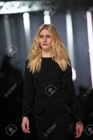 ZAGREB, CROATIA - MARCH 14 Fashion Model Wears Clothes Made.. Stock Photo,  Picture And Royalty Free Image. Image 18479762.