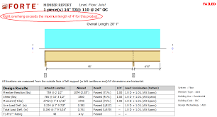 Tji Span Chart Cantilever Length Restrictions In Forte Weyerhaeuser