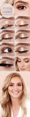 holiday shimmer eye makeup tutorial gorgeous easy makeup tutorials for brown eyes