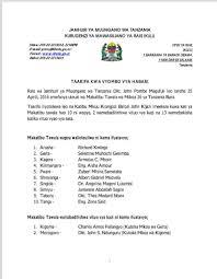 rais magufuli amefanya uteuzi wa makatibu tawala wa mikoa